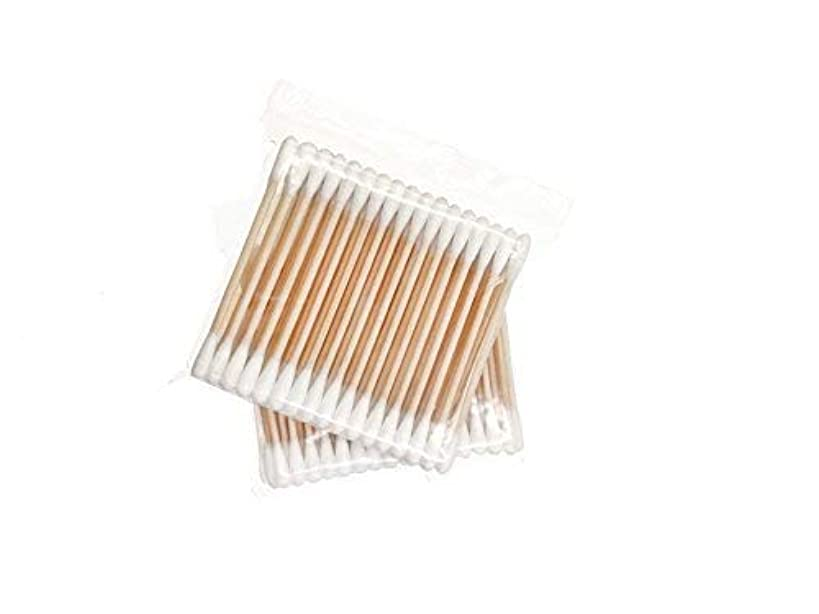Wooden Cotton Swabs 600 Pieces Double Tipped | Ultra Thin Travel Size - 50 Pieces 1 Pack, 12 Packs