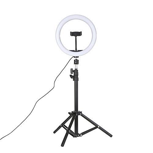 Galapara Luz de Anillo 26cm LED Regulable con Soporte 3-Colors 360 Rotary USB Powered Streaming Light para Vlogging Youtube Video Shooting Maquillaje Selfie, 10 niveles Brillo ajustable Regulable