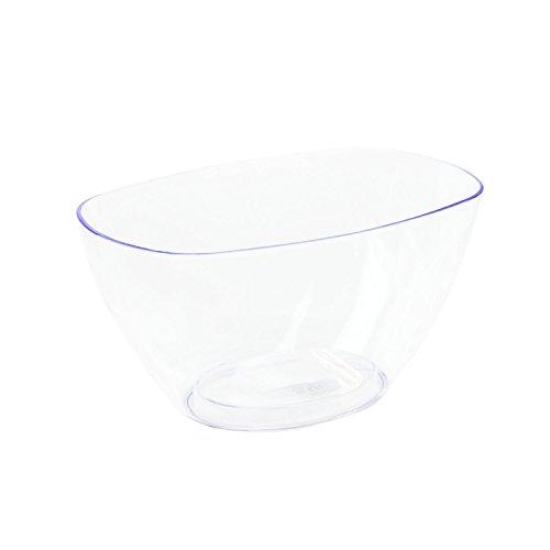 Cache-pot transparent en plastique Coubi ovale 20 cm, avec fond surélevé