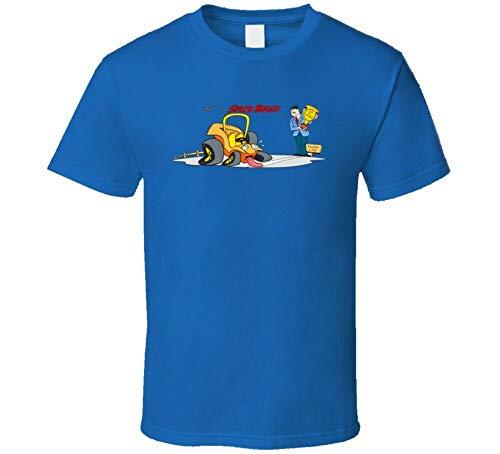 Vitesse Buggy Classique Dessin Rétro Vintage Throwback Nostalgique Old School T-Shirt Graphic Tee Printed Shirt Short Sleeve for Mens Sapphire XL
