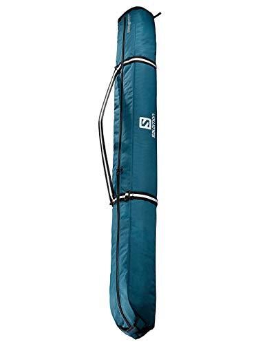 Salomon, Skisack EXTEND 1PAIR 165+20 SKIBA, Für 1 Paar Ski, Für Ski zwischen 165 - 185 cm, Blau (Moroccan Blue)/Schwarz, LC1169200