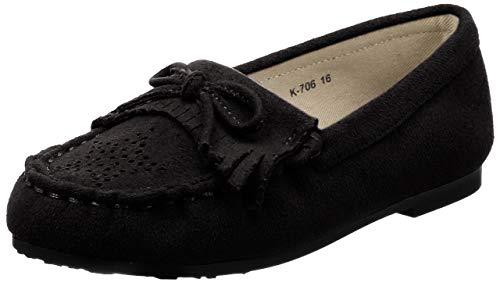 [オリエンタルトラフィック] KIDS キッズ フリンジ モカシン シューズ K-706 BLACK 15 cm E