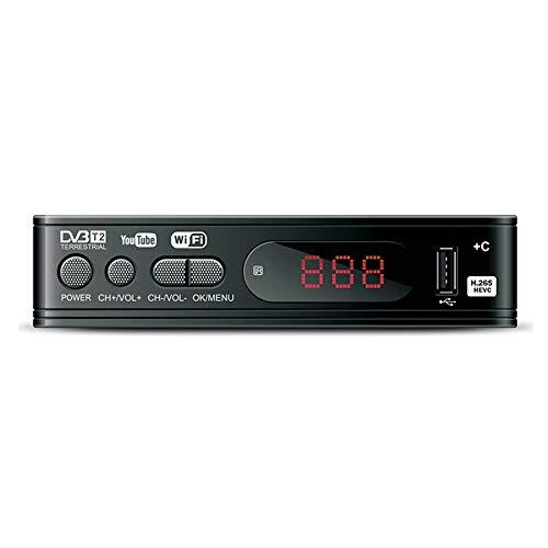 Bzocio Sintonizzatore TV DVB-T2 Box TV Vga DVB T2 per Ricevitore TV Digitale Ricevitore Wi-Fi Set-Top Box DVBT2 H.265 AC3 Sintonizzatore DVB HD-EU Plug