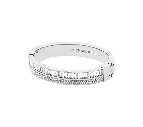Michael Kors Metallic Pav= Crystal Hinge Bangle Bracelet
