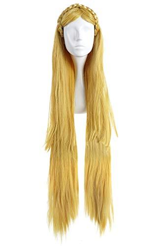 CoolChange Legend of Zelda Perücke von Prinzessin Zelda, Blond, 100cm, Haarkranz