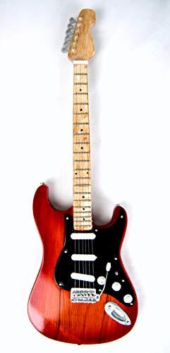 Miniatur Gitarre Deko Gitarre Guitar Fender 24 cm Schwarz #208