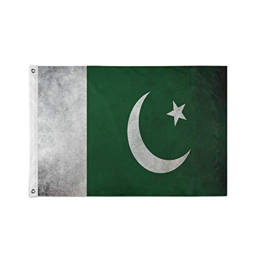 Bardische Pakistan-Flagge mit Stoffstruktur