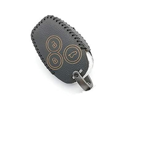 DfelBAP Llavero de Cuero para Coche, Funda para Llave, Escudo de Coche, 3 Botones, Caja de Llave remota de Cuero para Coche, para Renault/Opel Vivaro Movano