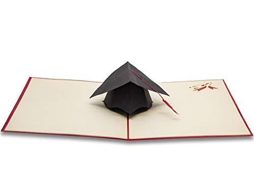 RF Distribution BR0LAU1 Biglietto di Auguri con Origami, Laurea Cappello