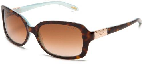Ralph Lauren Purple Label Damen RA5130 Sonnenbrille, Schwarz (Light Tortoise Turquoise 601/13), One size (Herstellergröße: 58)