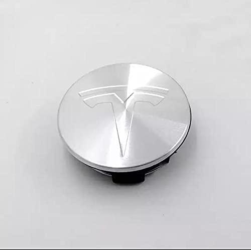 FNBA 4 unids/Lote 56mm Tapas centrales de Cubo de Rueda de Coche Logo Insignia Emblema ABS reemplazar Cubierta de llanta para Tesla Modelo 3 S X Y reajustar Accesorios de Coche
