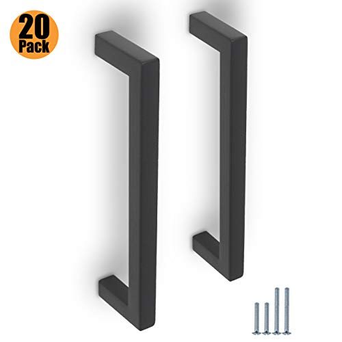 50mm 76mm 96mm 128mm 160mm 192mm 10X pomos cuadrados de lat/ón cepillado para puerta de armario de cocina de acero inoxidable 6 tama/ños Probrico