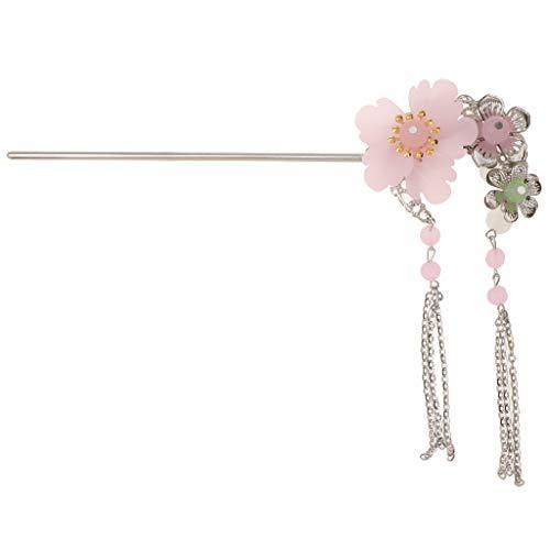 FLAMEER Haarstab Haarschmuck Retro Stil Hairpin Vintage Haarnadel Haarstock für langes Haar Haarschmuck Haarnadel - Rosa