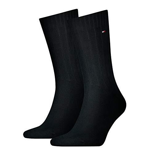 Tommy Hilfiger Herren TH MEN TRUE AMERICA 2P Socken, Schwarz (black 200), 43/46 (Herstellergröße: 43-46) (2er Pack)