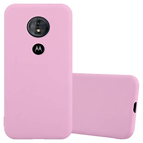 Cadorabo Coque pour Motorola Moto E5 / G6 Play en Candy Rose Vif - Housse Protection Souple en Silicone TPU avec Anti-Choc et Anti-Rayures - Ultra Slim Fin Gel Case Cover Bumper
