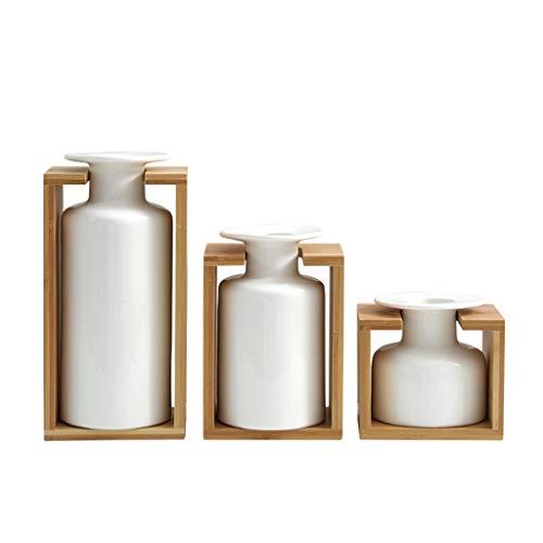 Liefde lamp Eenvoudige Witte Vaas Chinese Stijl Keramische Vaas Set Thuis Desktop Bloem Arrangement
