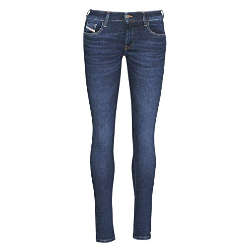 Diesel Slandy-Low L.32 Pantaloni Jeans, 01 Blue Denim, 27 Donna