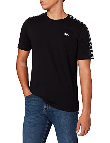 Kappa Janno Men T-Shirt, Caviale, One Size Uomo