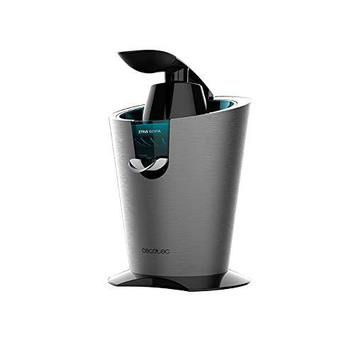 Cecotec Presse-Agrume Electrique à Levier, Zitrus 160 Vita INOX , 160W, Filtre en acier, 2 Cônes, Anti-Goutte, Silencieux, Compatible avec Lave-Vaisselle, Acier Inoxydable