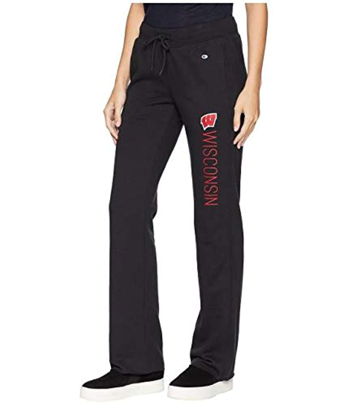 観客できない勝者Champion College Wisconsin Badgers University Fleece Open Bottom Pants パンツ MD 【並行輸入品】