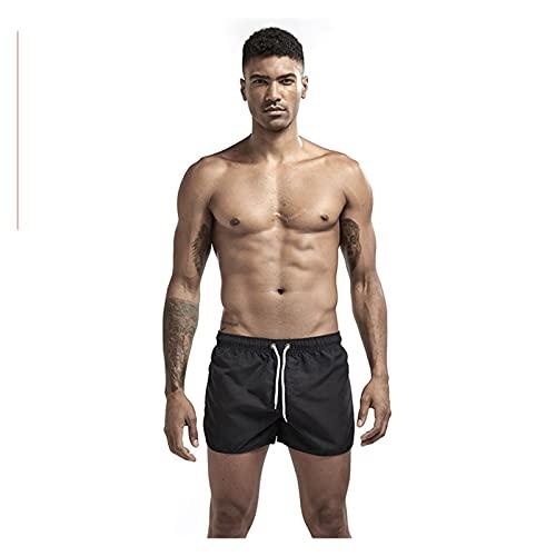 YZRDY TRANSPLETLE Quick Dress Hombres Casos Casos Casual PORTALLES TRUNes de natación de Verano Correa Ajustable Boxer Skets Fútbol Tenis Entrenamiento Corto Soft (Color : Black, Size : XL.)