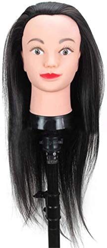 Mannequins de couture reglable Formation Tête Haute température Soie Cheveux tressés Tête à coiffer Modèle Barbershop Coiffure factice tête Pratique Maquillage Mannequin Porte vêtement Mannequin