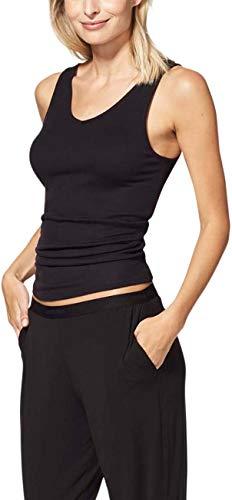 Tommy John Women's Second Skin Pajama Pants - Comfortable Soft Sleep & Lounge Bottoms for Women (Elastic Band, Black, X-Large)