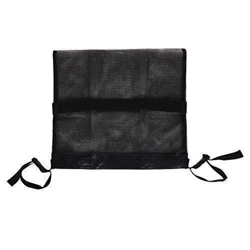 Bolsa de almacenamiento de malla para cochecito de bebé transpirable colgante, bolsa de almacenamiento portátil para silla de ruedas, organizador para baberos de bebé, botellas, teléfono móvil