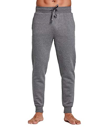 CYZ Men's Jogger Sweatpants Tracksuit Bottoms Training Running Trousers,Dark Grey,Small