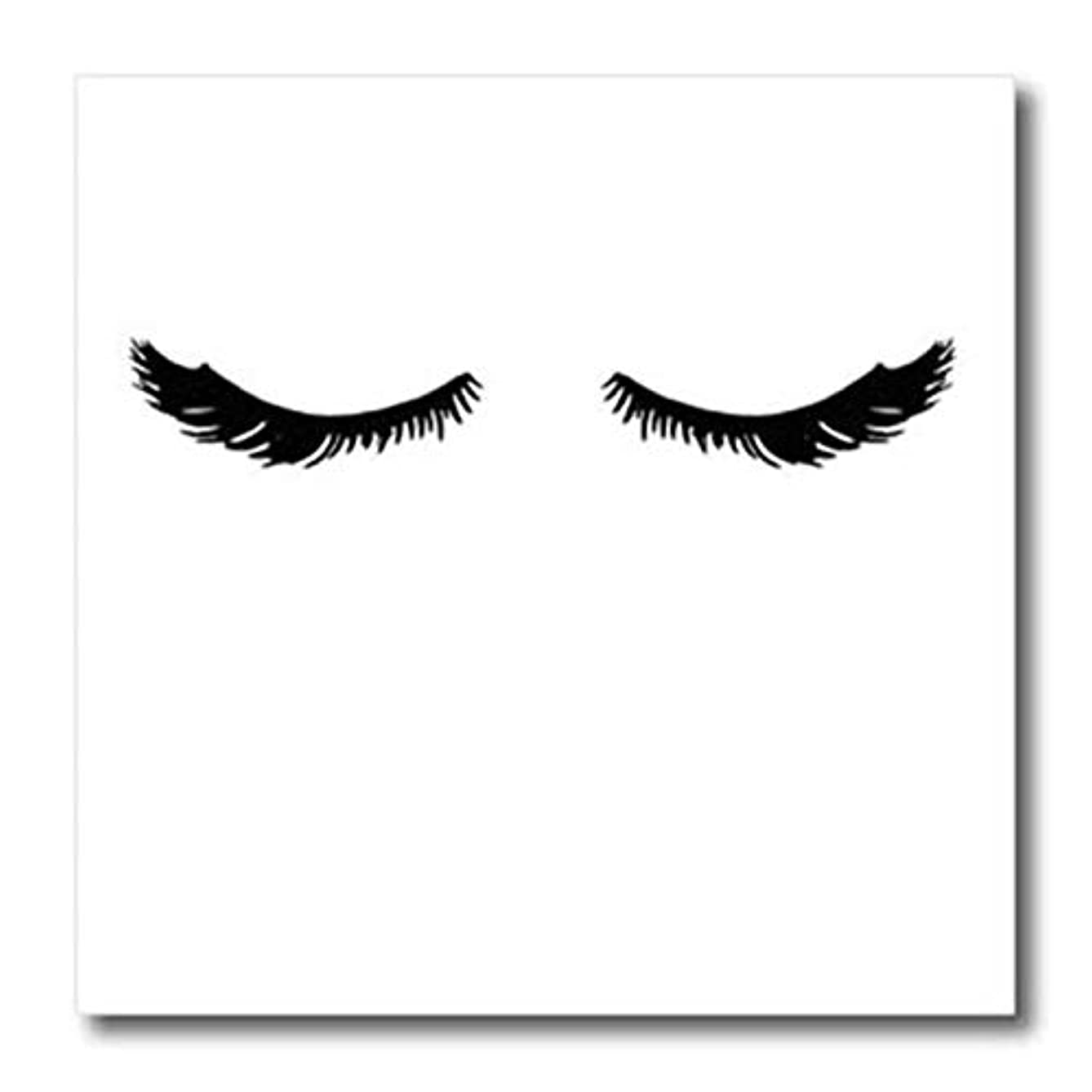 3dRose ht_274203_3 Image of Pretty Glam Black Eyelashes Transfer Paper 10