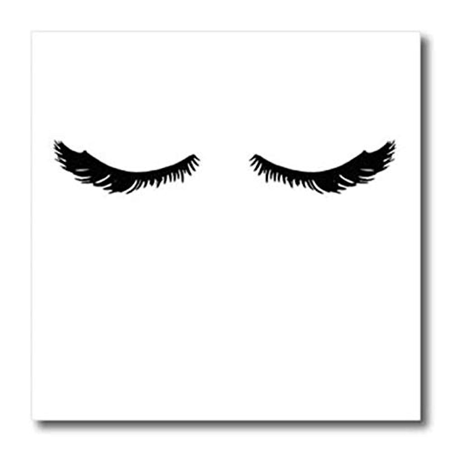 3dRose ht_274203_3 Image of Pretty Glam Black Eyelashes Transfer Paper 10
