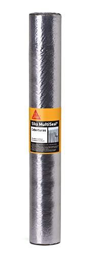 Sika Multiseal Cobertura Aluminio, Fita Impermeável Auto-Adesiva, Fácil aplicação: destacou, colou. Veda na hora, Preto, Rolo 1x10m