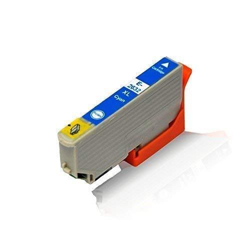 1x kompatible Tintenpatrone für Epson Expression Premium XP-620 XP-625 XP-700 XP-710 XP-720 XP-800 XP-810 XP-820 C13 T2632 4010 T2632 Cyan 12,5 ml