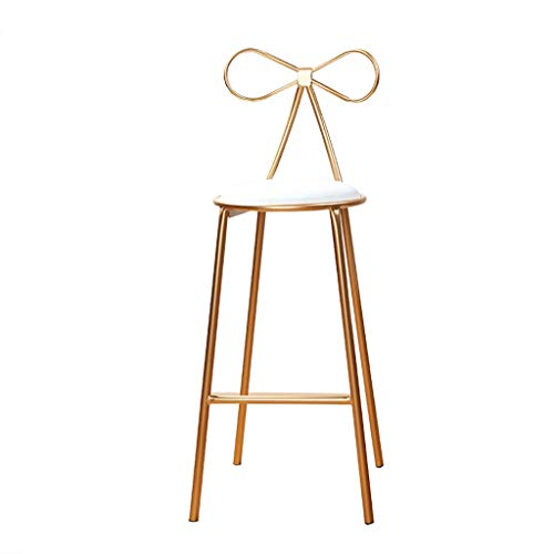 Round Bar Stools Bar Chair High Stool Counter Stool Dining Stools Metal with Back Kick Plate Terrace Balcony Club Best Home Garden Chairs