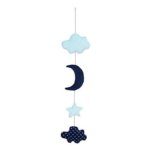 LITTLE BAND Guirlande Déco Lune Bleu
