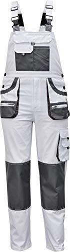 Des-Emerton - Pantalones con Peto de Trabajo para Hombre Slim fit - Blanco - 56