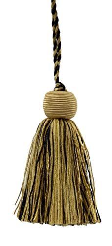 Set of 10 Decorative 10cm Tassel|Black, Antique Gold, Champaigne, Camel Gold|Veranda Collection|Style# VTS|Color: Golden Onyx - VNT25