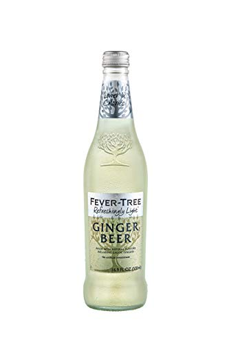 Fever-Tree Refreshingly Light Ginger Beer, No Artificial Sweeteners, Flavourings or Preservatives, 16.9 Fl Oz (Pack of 8)