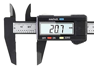 Calibrador digital, pantalla LCD grande, mide hasta 150 mm, no acero