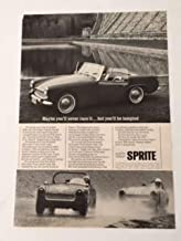 1968 Austin Healey Sprite Magazine Print Advertisement