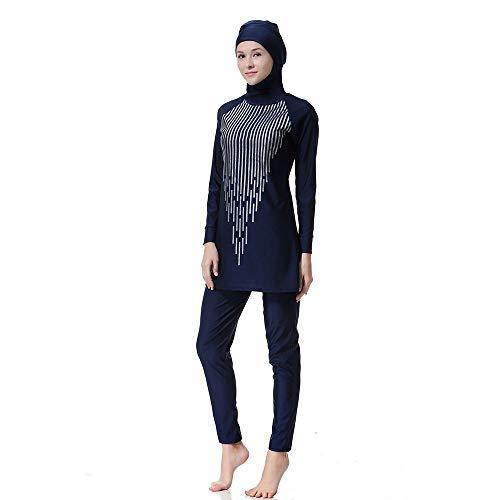 AHHYH Moslim Badmode Vrouwen, Conservatieve Badpak Strandkleding voor Zwemmen 4 Kleur