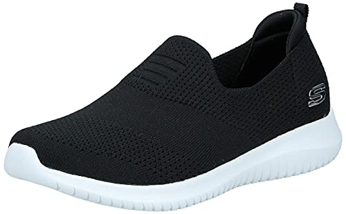 Skechers womens Ultra Flex - Harmonious Sneaker, Black, 8 US