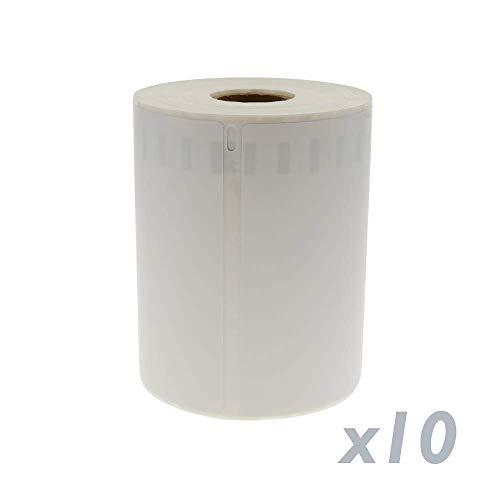 Rotoli Bobina 220 etichettes compatibili Dymo 4XL e Dymo 1744907 104x159mm 10-Pack BeMatik