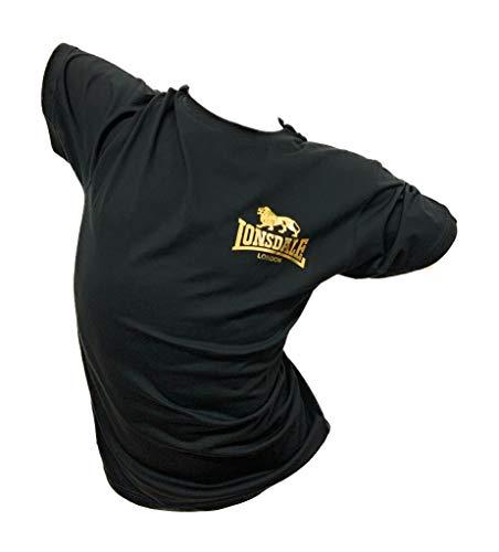 Lonsdale Herren T-Shirt Mode aus frischer gekämmter Baumwolle Druck mit Gold-Metallic-Effekt Herren-T-Shirt 20545/2055 XL