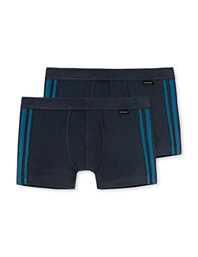 Schiesser Herren Shorts 2er Pack, Blau (petrol 811), X-Large (Herstellergröße: 007)