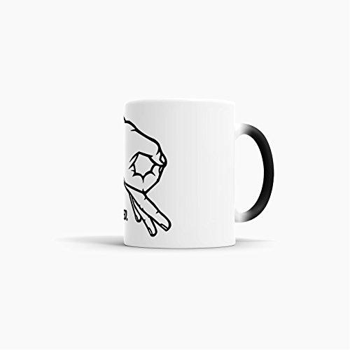 Reingeguckt spaßige Kaffeetasse mit Farbwechsel