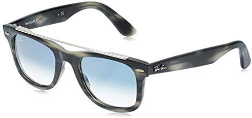 Ray Ban unisex adult Rb4540 Wayfarer Double Bridge Sunglasses Striped Grey Blue Gradient 50 product image