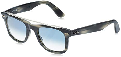 Ray-Ban 0RB4540 Gafas de sol, Striped Grey, 50 Unisex