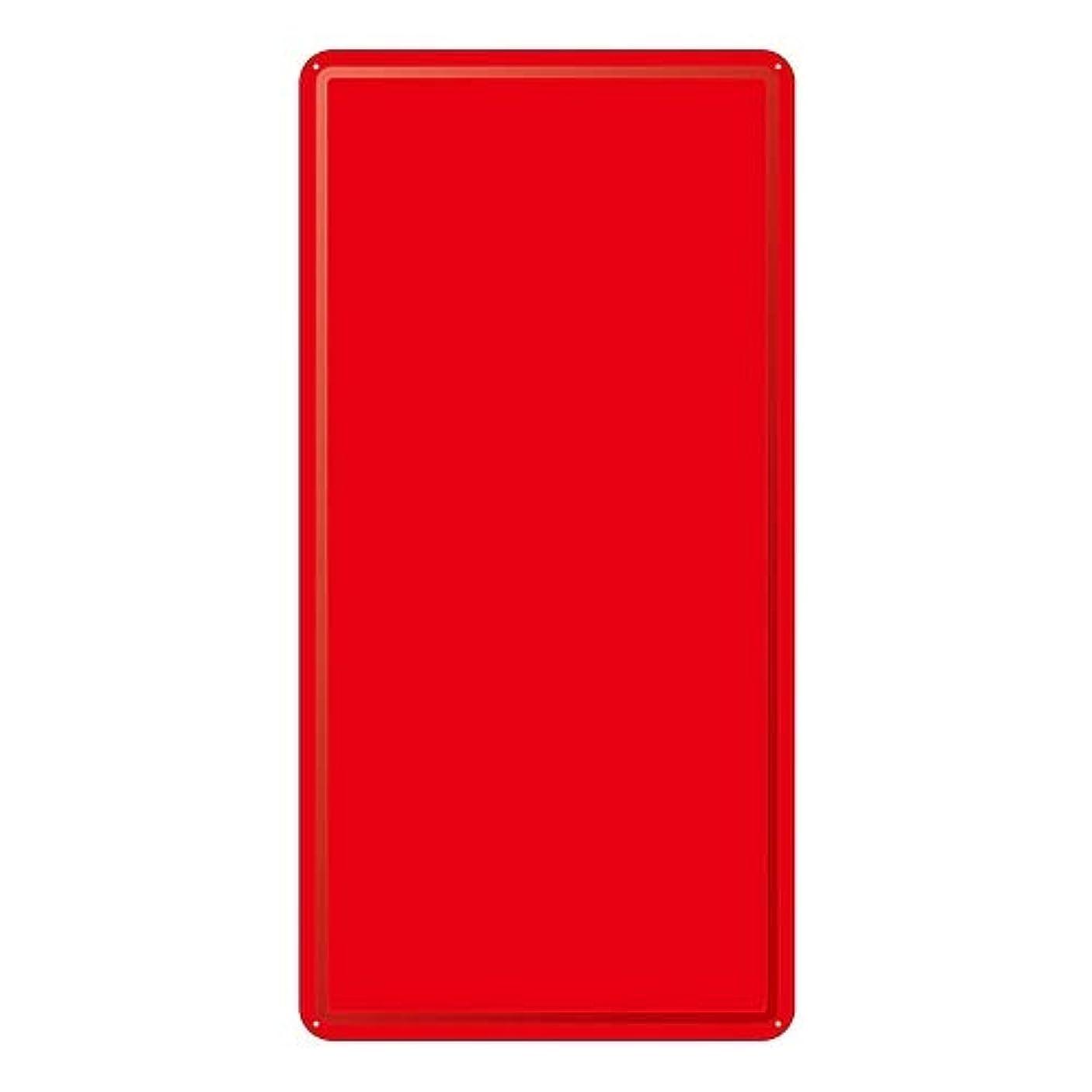 ばかげている壊滅的なアルカトラズ島スチール無地板 山型 赤 スチール-17/61-3394-58