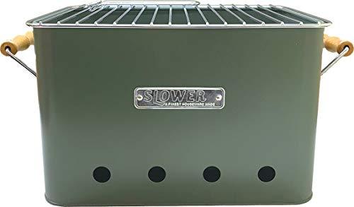 スロウワー(SLOWER)バーベキューコンロ卓上焚き火台コンパクトタイプOLIVE(L)2人~4人用BBQSTOVEAltaポータブルグリルSLW198